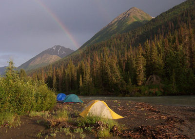 Remote Camp In the Chugach Mountains