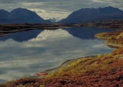 Fall Lake Reflections In the Alaska Range